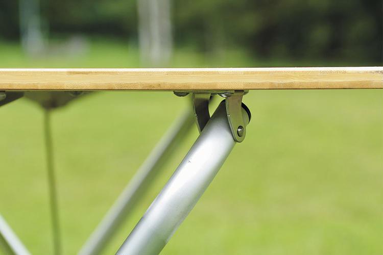 ワンアクションテーブルロング竹関節