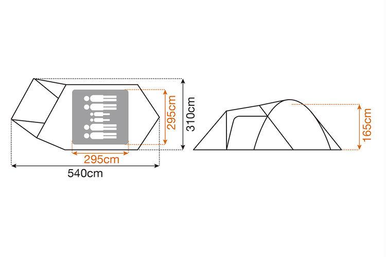 アメニティドームLサイズ図