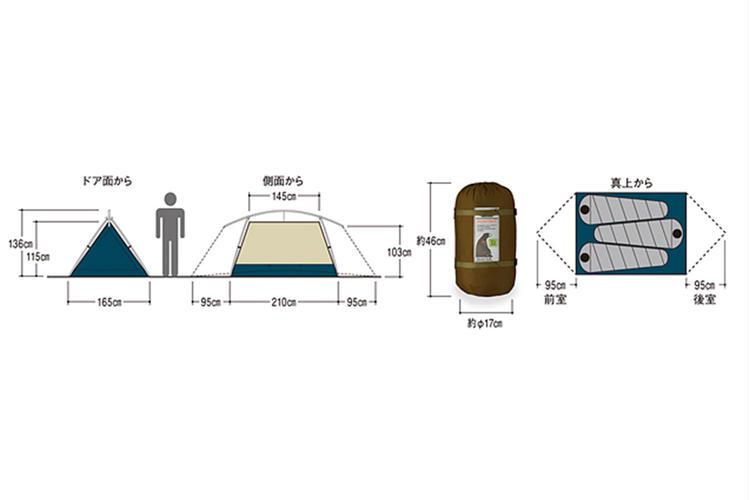 ムーンライトテント3型図