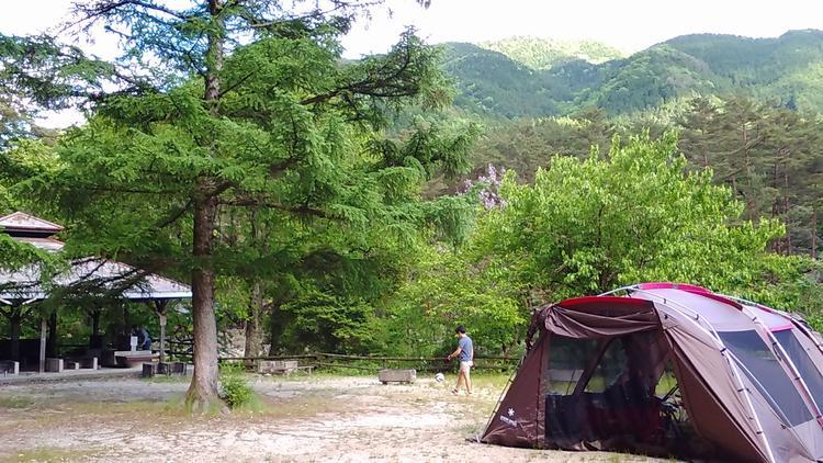 付知峡大自然キャンプ場さんけい広場