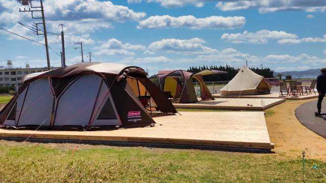 BREEZE family camp テントサイト
